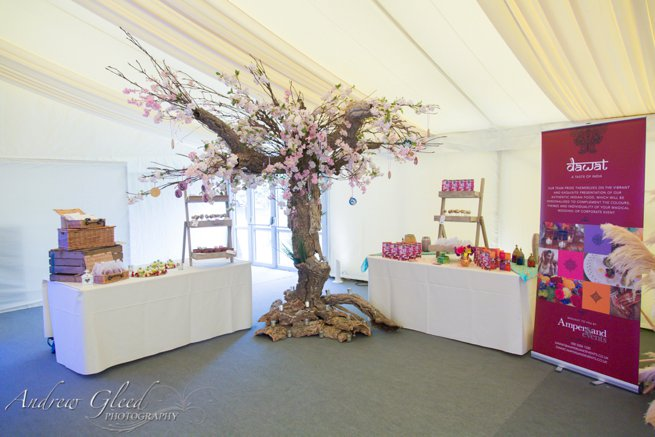 Faux cherry blossom tree display | Kelly Chandler Consulting