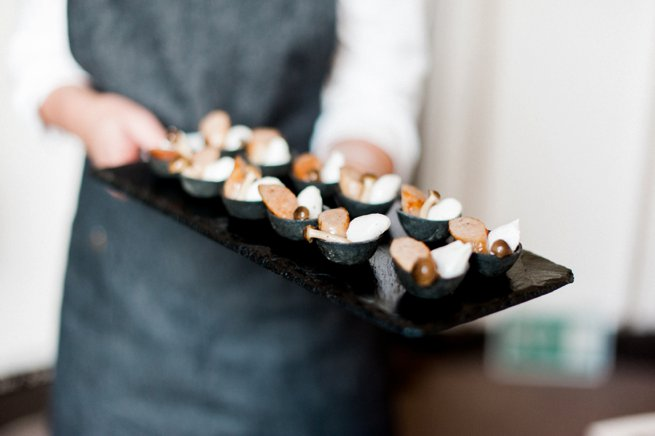 Waiter tray canapes | Kelly Chandler Consulting