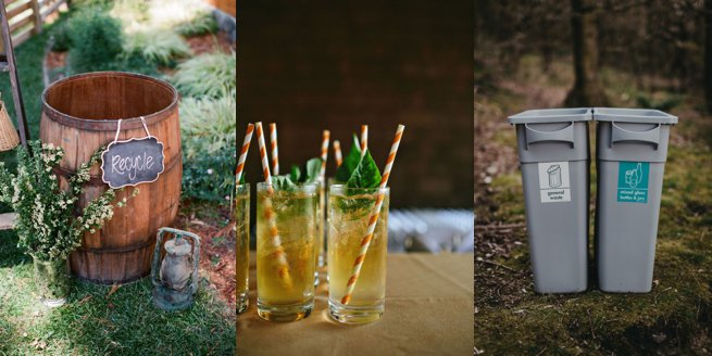Recycling bins and paper straws | Kelly Chandler Consulting