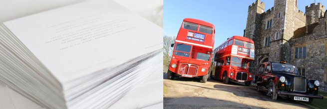 Wedding stationery and london red bus | Kelly Chandler Consulting