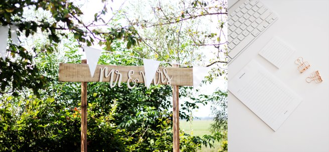 Wooden Mr and Mrs sign | Kelly Chandler Consulting