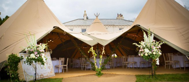 Hallsannery House Teepee Marquee | Kelly Chandler Consulting